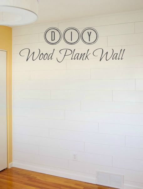 DIY Wood Plank Wall from thegoldensycamore.com