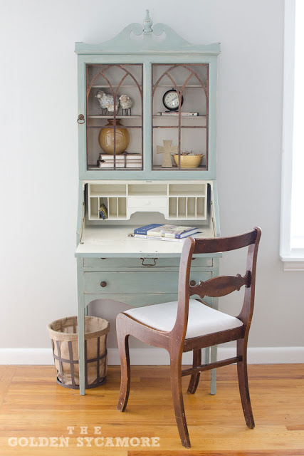 Vintage Secretary Desk >> Vintage Secretary : The Perfect Addition to Our Living Room - The Golden Sycamore
