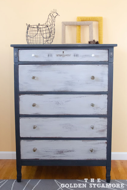 Graphite and Paris Grey Dresser
