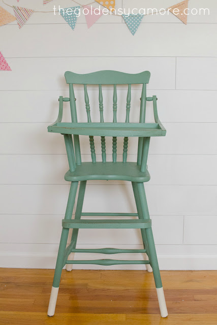 Dipped Leg Vintage Highchair