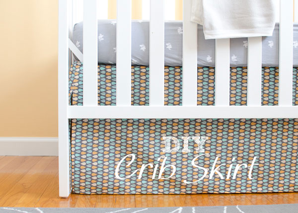 Nursery Progress : DIY Crib Skirt and Lazy Mitered Corner Hem