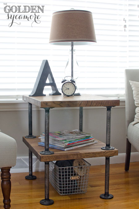 Le Sycamore d'or: Tutorial Side Table Industrial DIY