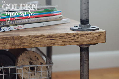 industrial diy furniture. Perfect Furniture The Golden Sycamore DIY Industrial Side Table Tutorial And Diy Furniture A