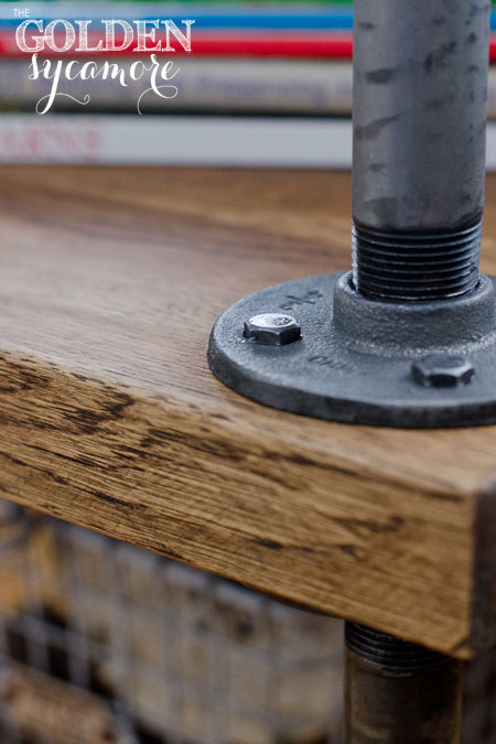 Diy Industrial Side Table A Tutorial The Golden Sycamore
