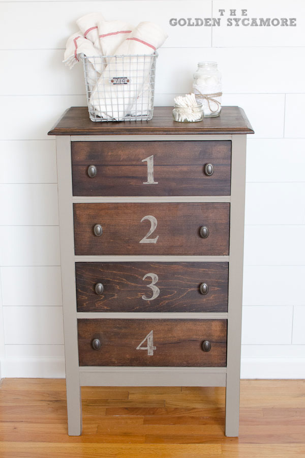 Two Toned Dresser Stained And Painted