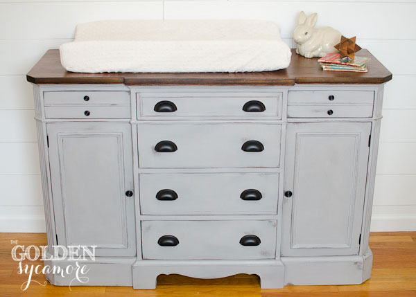 The Golden Sycamore Painted Changing Table