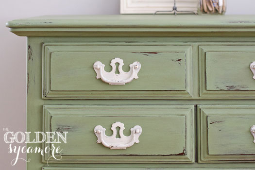 Chalk Paint Green Dresser