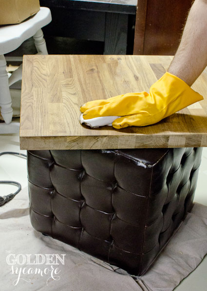 The Golden Sycamore: DIY Industrial Side Table Tutorial