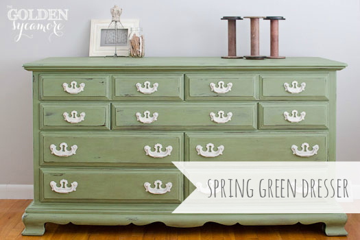 And Bold A Green Dresser That S Ready For Spring