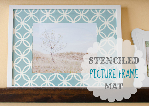 stenciled picture frame mat graphic