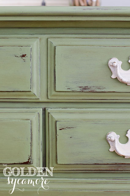 The Golden Sycamore: Distressed Green Dresser