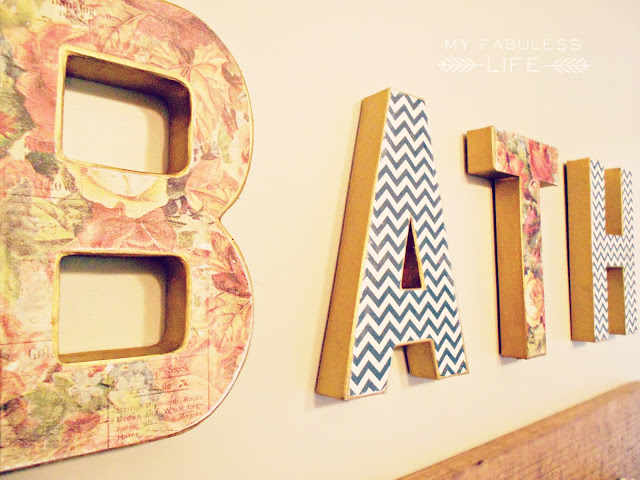 Guest Post: My Fabuless Life – DIY BATH Letters