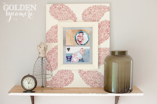 DIY Stenciled Magnetic Frame