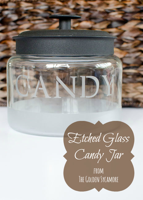 The Golden Sycamore: Etched Glass Candy Jar