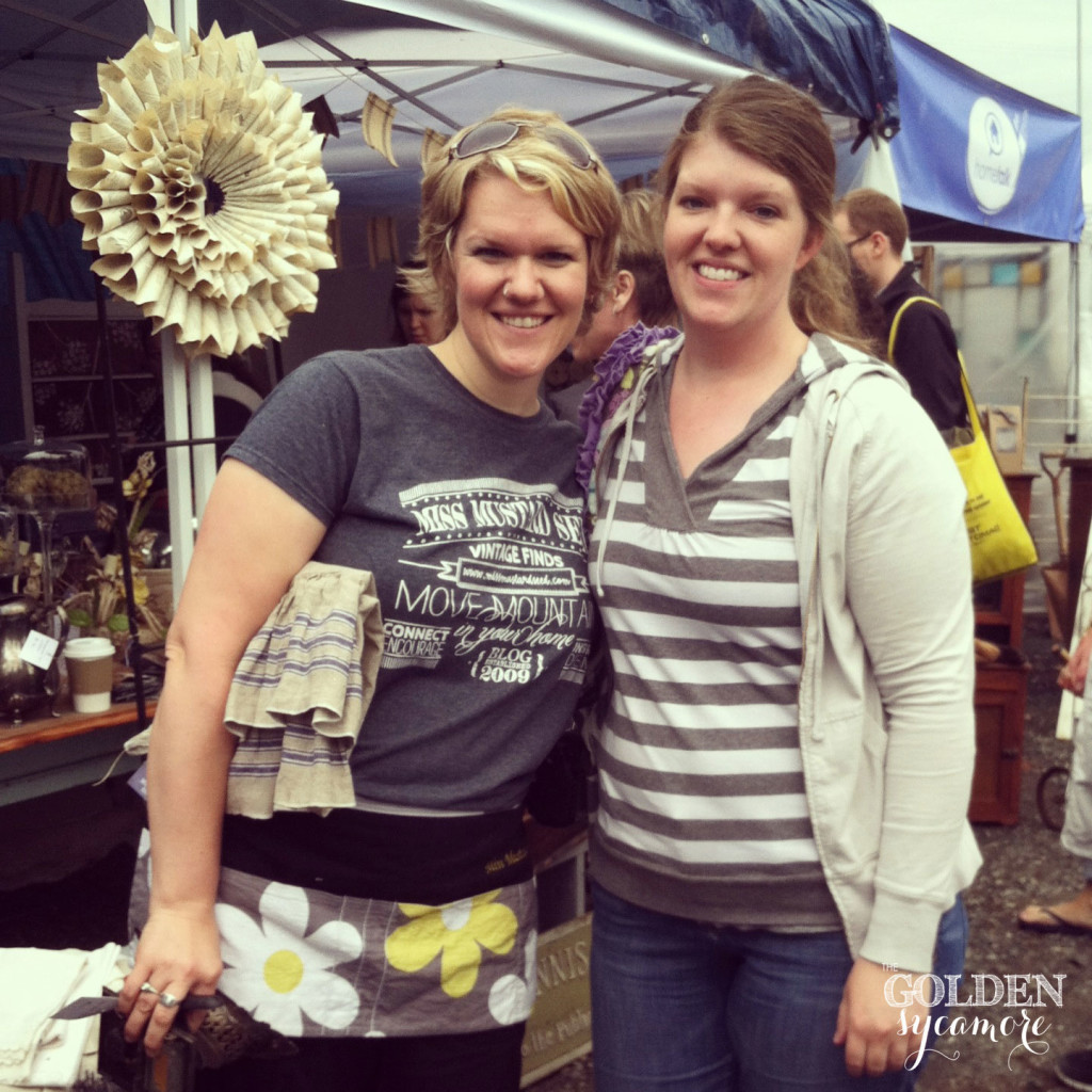 Marian (Miss Mustard Seed) & Allison from The Golden Sycamore @ Lucketts Spring Market