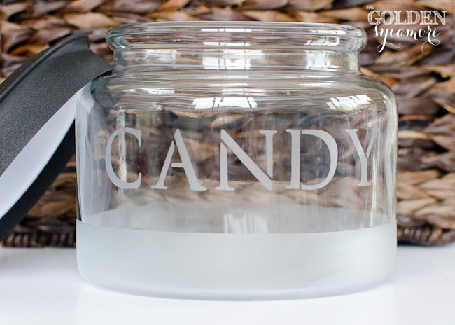 DIY Etched Glass Candy Jar