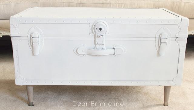 guest post: dear emmeline - diy trunk coffee table - the golden
