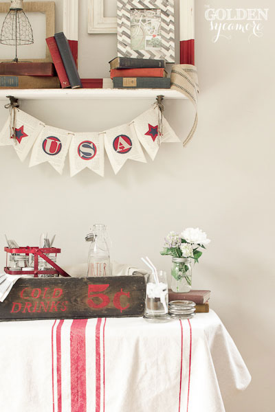 The Golden Sycamore: Vintage Patriotic Decor