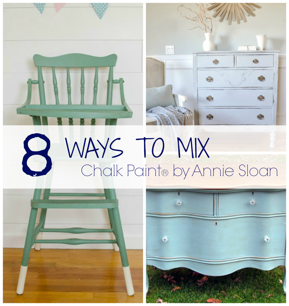 8 Ways to Mix Chalk Paint from thegoldensycamore.com