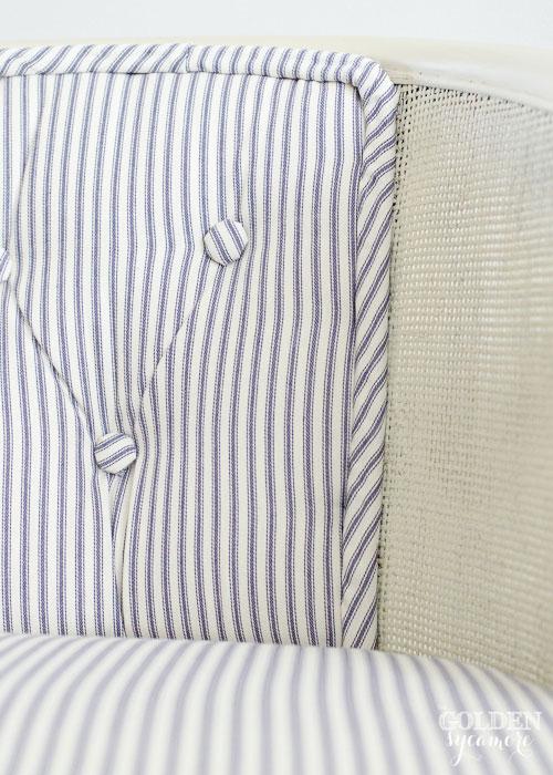 Tufted Cane Chair Cording Detail