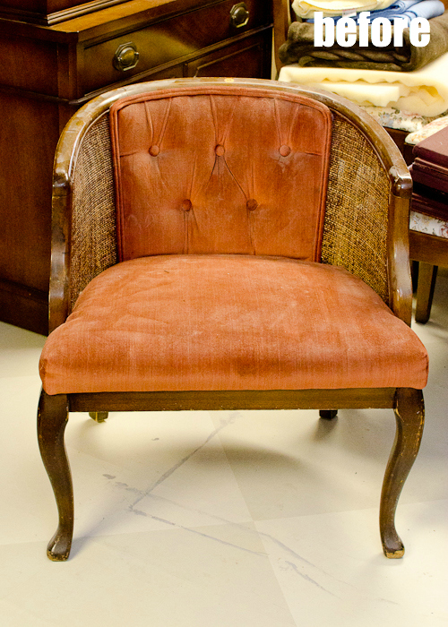 tufted cain chair