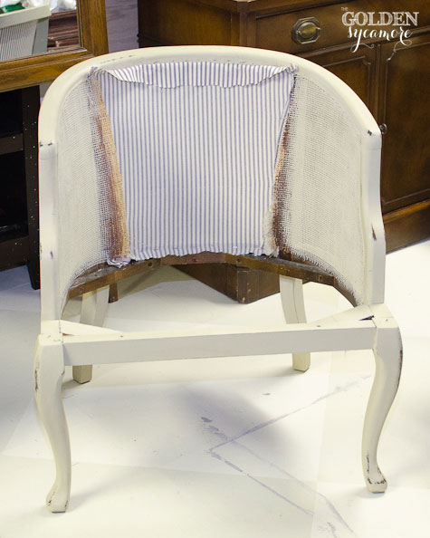 How to Reupholster a Cane Chair with Tufted Back