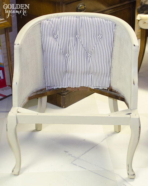 Tufted Cane Chair Tutorial : Putting it Back Together