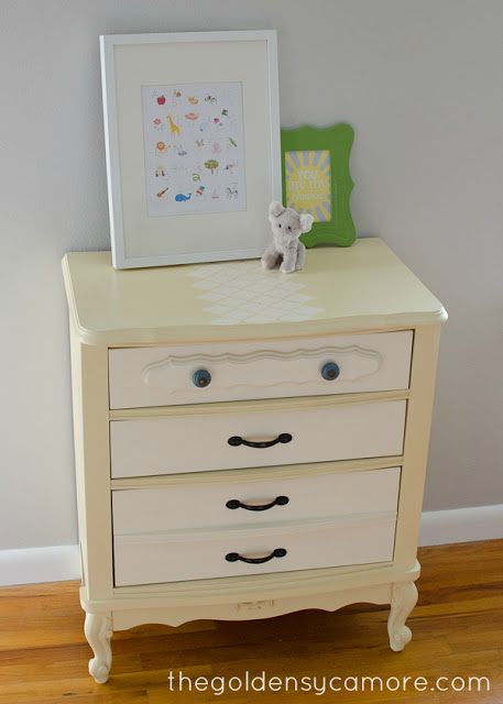 Cream Nightstand from The Golden Sycamore