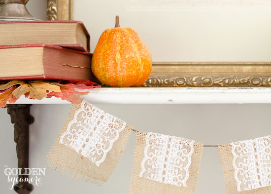 Fall Decor : Lace Banner