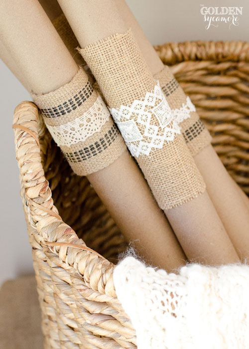 Fall Decor : Burlap and Lace