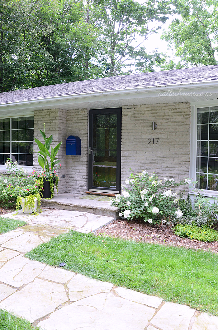 mid century front entry