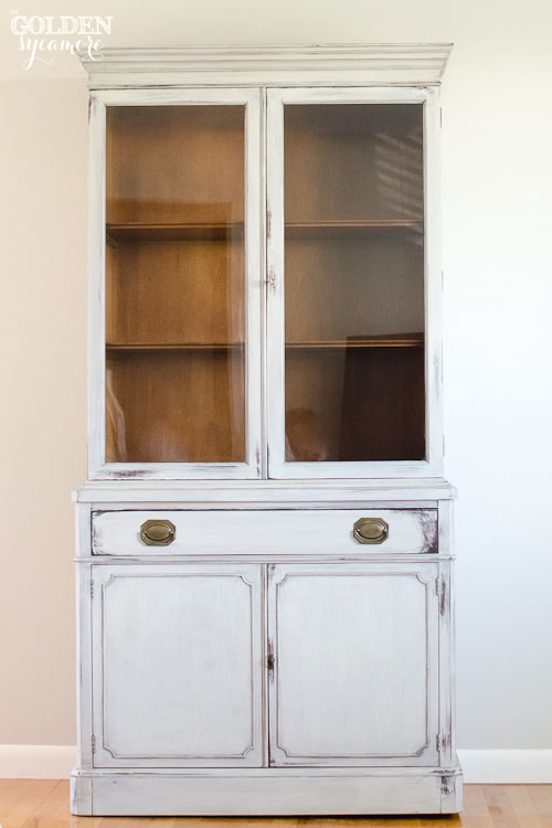 Milk Painted Drexel Hutch