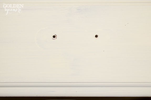 Drilling New Holes in Drawers
