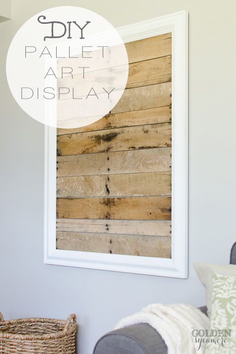 DIY Pallet Art Display And My Simple Fall Decor The