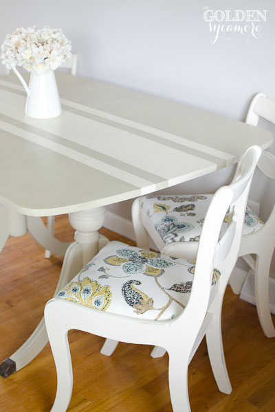 Chalk Painted Duncan Phyfe Table and Chairs