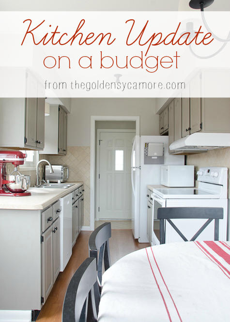 Kitchen update on a budget the golden sycamore for Update my kitchen on a budget