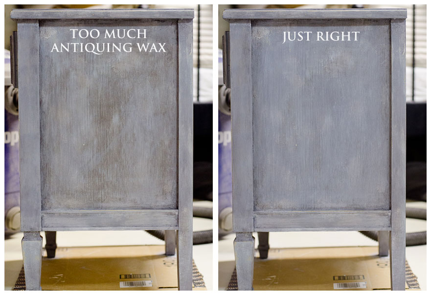 How to Remove Excess Antiquing Wax