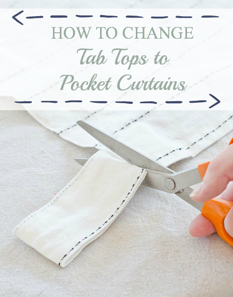 How to Change Tab Tops to Pocket Curtains from thegoldensycamore.com