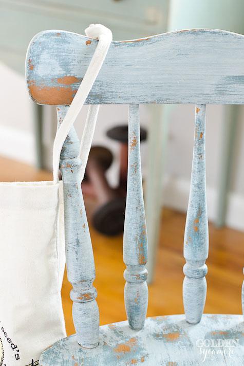 Chippy Chair #mmsmilkpaint #kitchenscale #grainsack