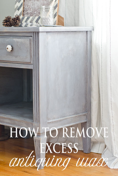 How to Remove Excess Antiquing Wax #mmsmilkpaint