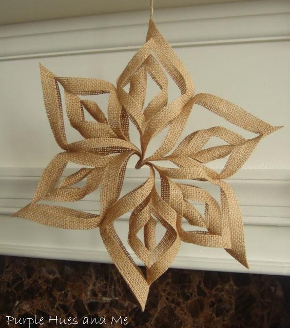 3D Burlap Snowflake