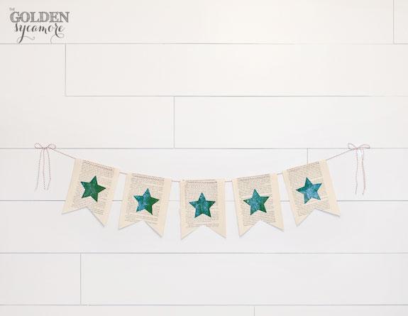 DIY Sparkly Christmas Banner