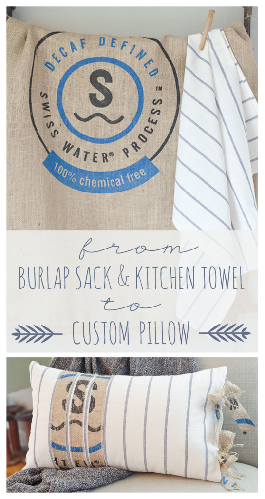 Custom Burlap Pillow Tutorial