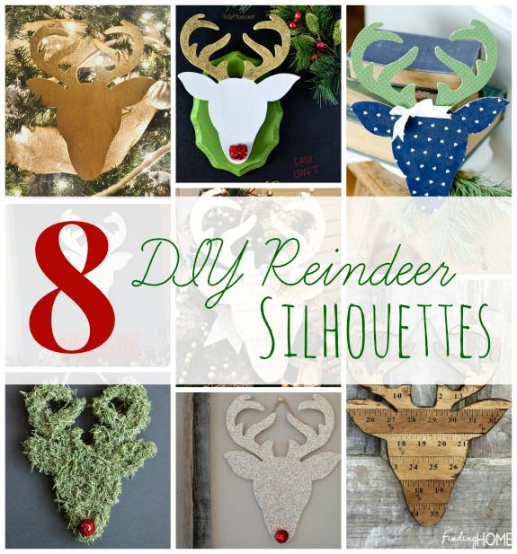 8 DIY Reindeer Silhouettes
