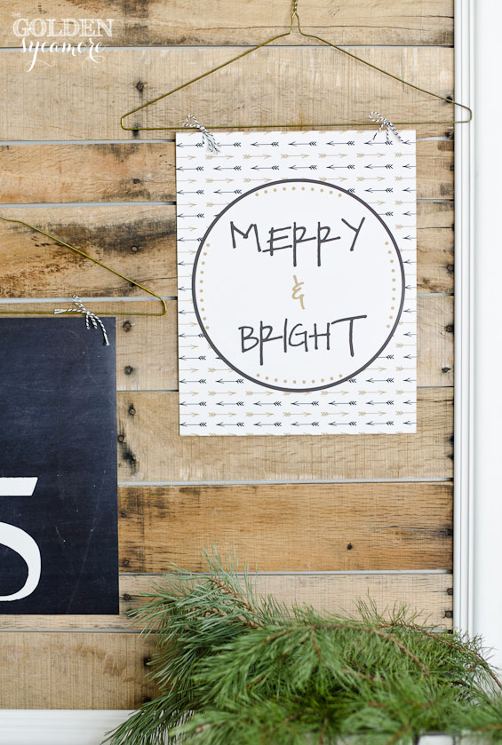Merry & Bright Free Printable