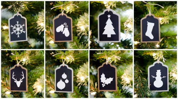DIY Christmas Tag Ornaments