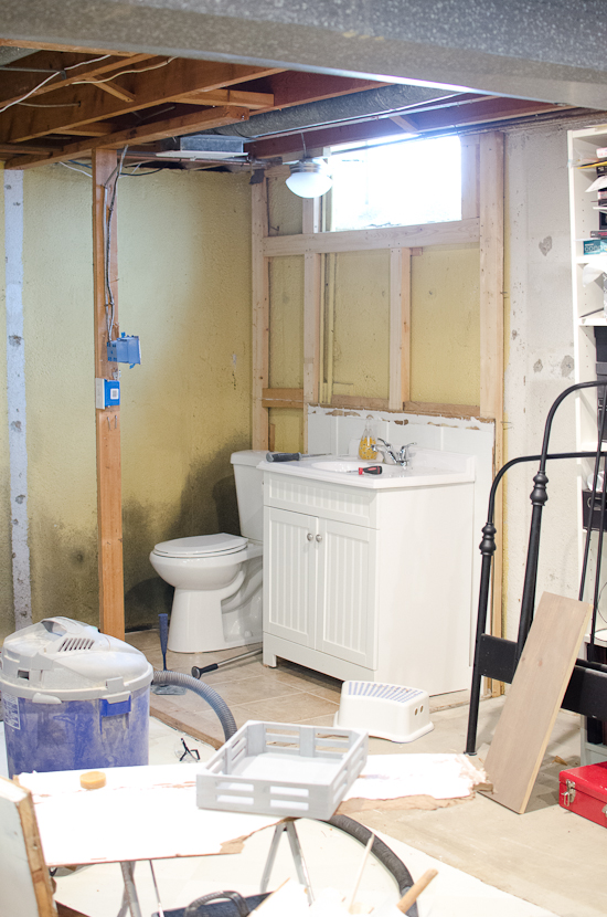 Basement Progress : Ripping Down and Building Up