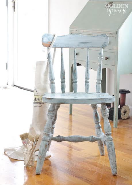 Chippy Milk Paint Chair #mmsmilkpaint