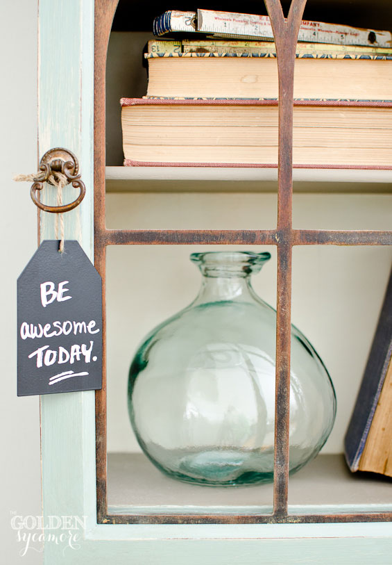 Be awesome today chalkboard art
