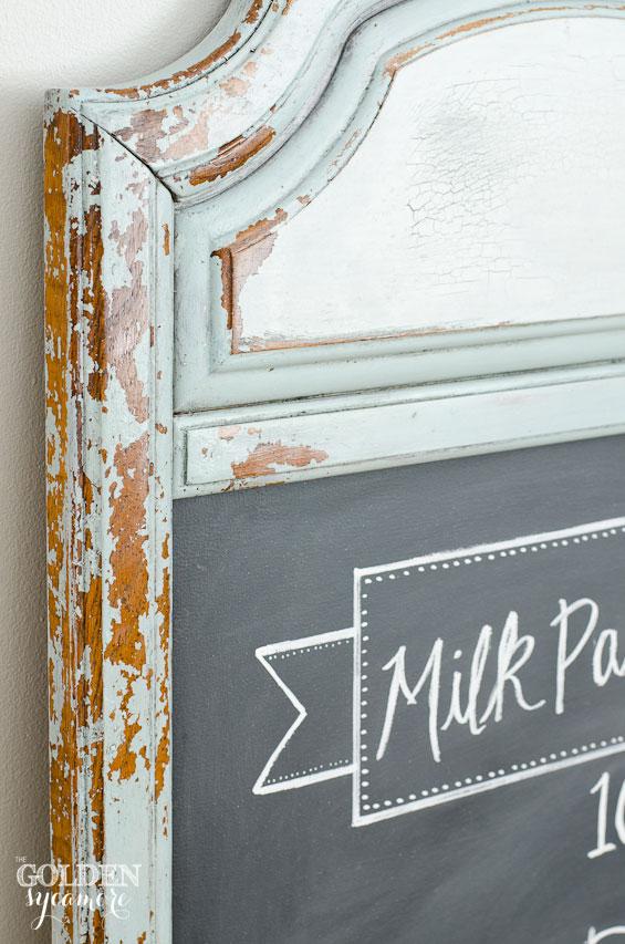 Super chippy milk paint chalkboard #mmsmilkpaint
